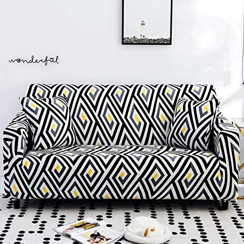 Protector de Muebles-Funda elástica para Sala de Estar Funda de sofá de Esquina Funda de sofá elástica A13 3 plazas