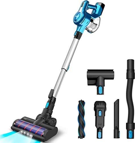 INSE Cordless Vacuum Cleaner, 23KPa Powerful Suction Stick Vacuums, Handheld Bed Vac Rechargeable 2500mAh for Pet Hai...