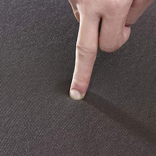 QSY Home Kitchen Anti Fatigue Floor Mats 20x39x1/2-Inch Comfort Standing Rugs for Laundry Bath Room Pvc Foam Bevel Edges Non-Slip Waterproof Mats, Black/White
