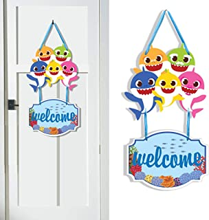 Shark Party Supplies For Baby Shower Parties Decoration Welcome Hanger Kids Banner