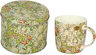 William Morris Golden Lily Tin with Coffee and Tea Mug