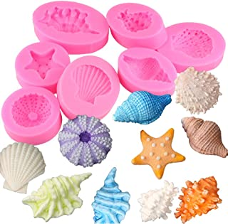 Fewo Sea Shell Conch Silicone Mold for Fondant Chocolate Candy Cake Decorating Candle Soap Lotion Bar Wax Crayon Melt Plaster Polymer Clay