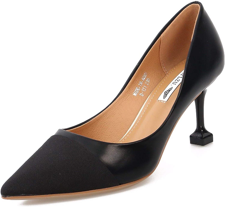 HBDLH Damenschuhe Einzelne Schuhe Sommer-Mode 18Cm Hohen Ferse Starken Kopf Flach Mund Katze und Leicht Dünn und Damenschuhe.  | Bestellung willkommen  | Merkwürdige Form