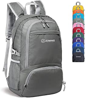 30L Lightweight Packable Backpack Water Resistant Hiking Daypack,Small Travel Backpack Foldable Camping Outdoor Bag(Dimgray)