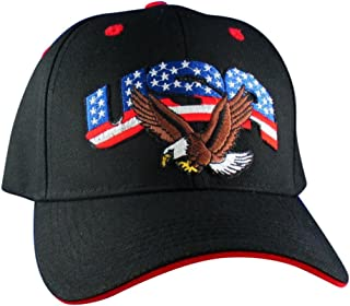 USA With Bald Eagle Hat - Embroidered Patch Baseball Cap