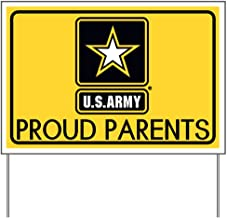 CafePress U.S. Army: Proud Parents (Gold) Yard Sign, Vinyl Lawn Sign, Political Election Sign