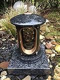 Grave Granito Lanterna con base Impala Luce del cimitero Lampada Cimitero con base