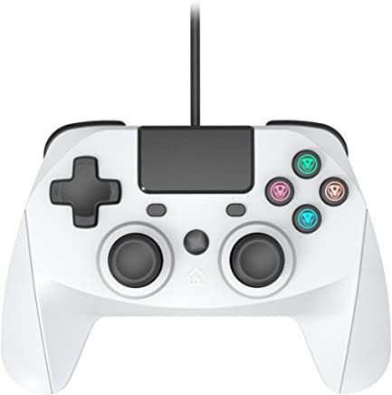 Snakebyte Gamepad S for Playstation 4 - Wired PS4 Controller with 3m Cable - Nostalgic Playstation One Grey