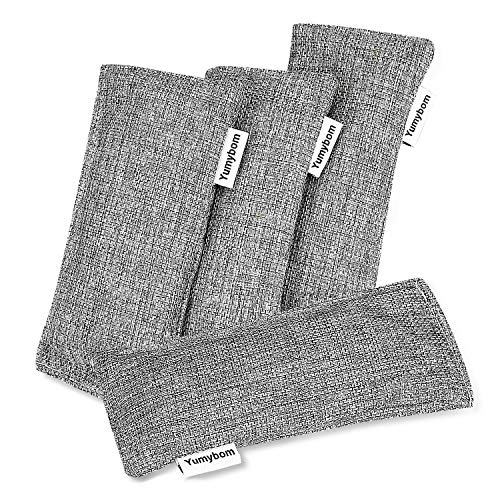 Natural Activated Bamboo Charcoal Bags 4 Pack, Home Air...