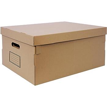 Confortime Basic Brown BY0502016095 - Caja de multiusos, 6 unidades: Amazon.es: Oficina y papelería