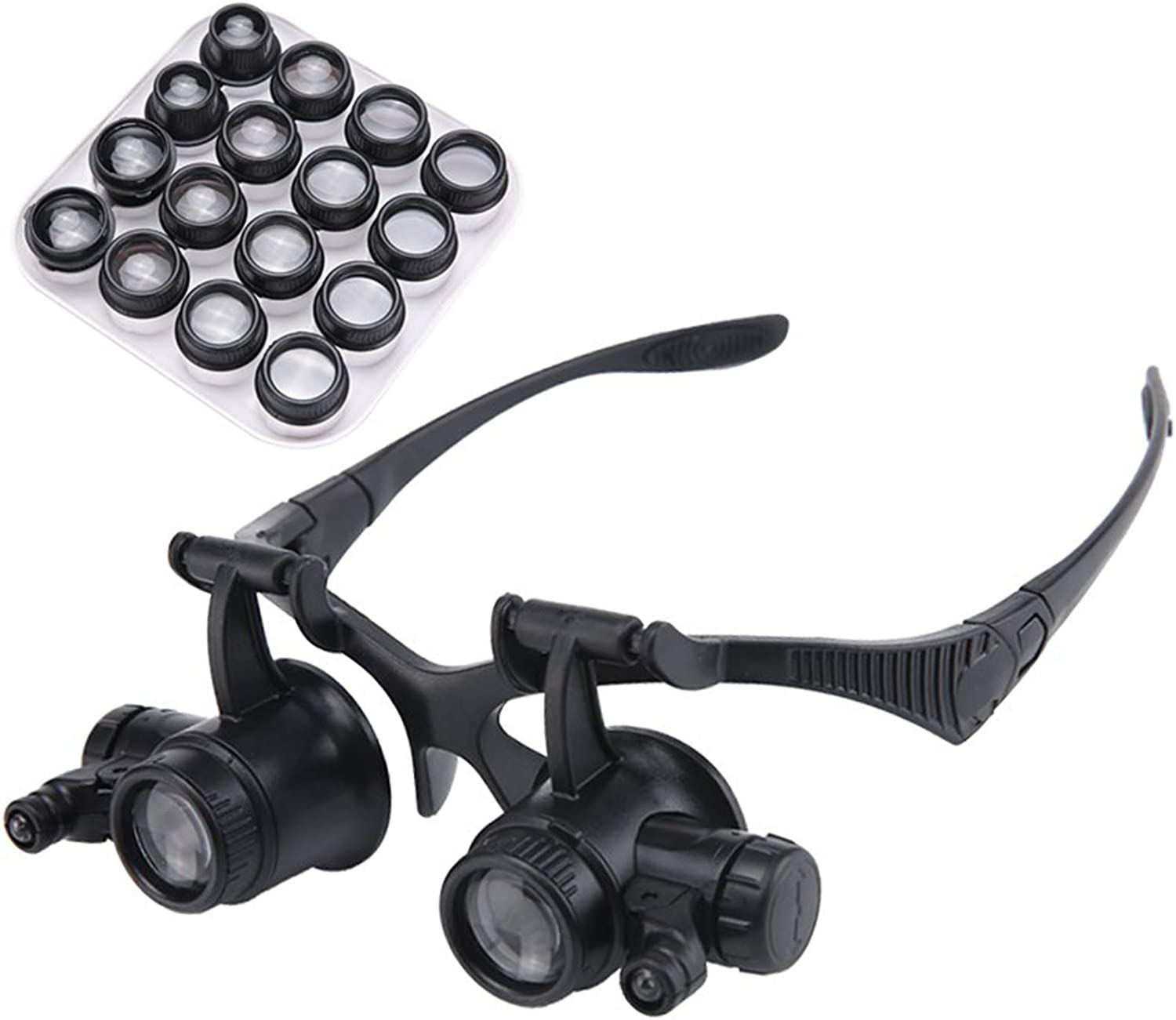 Portable Super intense SALE Headband Magnifier Max 72% OFF with Magnifie LED Light Illuminated