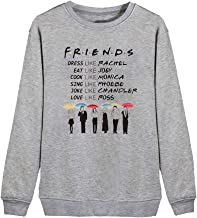 Women Friends TV Show Sweatshirts Dress Like Rachel Letter Print Funny Graphic Casual Pullover Shirt Top