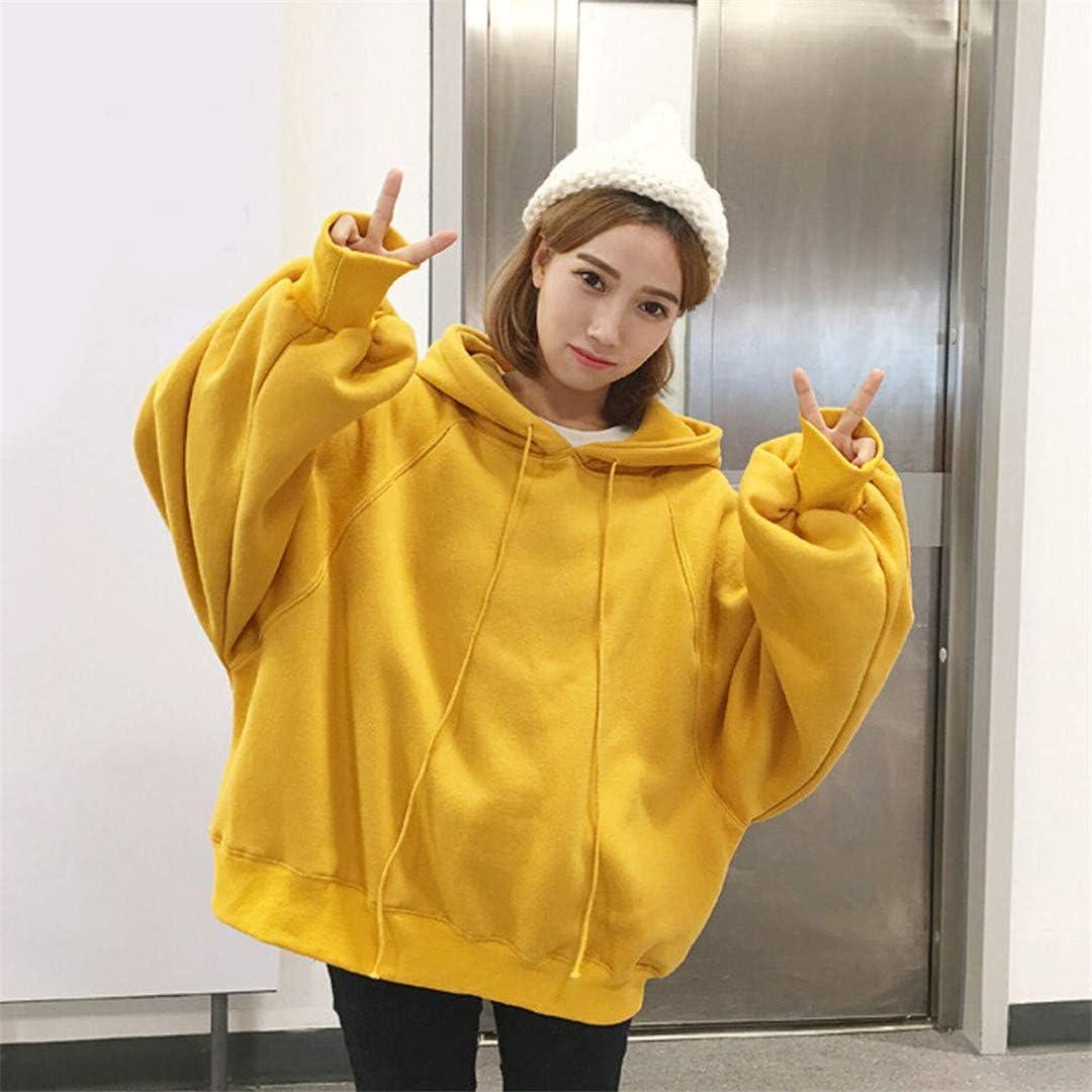 Sweatshirts Women Hoodies Loose Hooded Lantern Sleeve Sweatshirt Hoodie Pullover