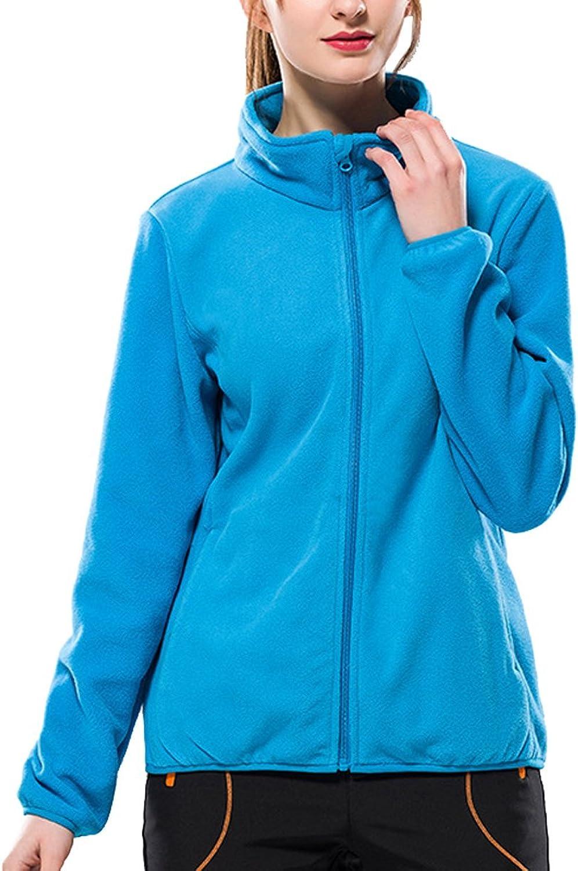 Hotmiss Women Full Zip Polar Fleece Outerwear Stand Collar Cardigan Jacket