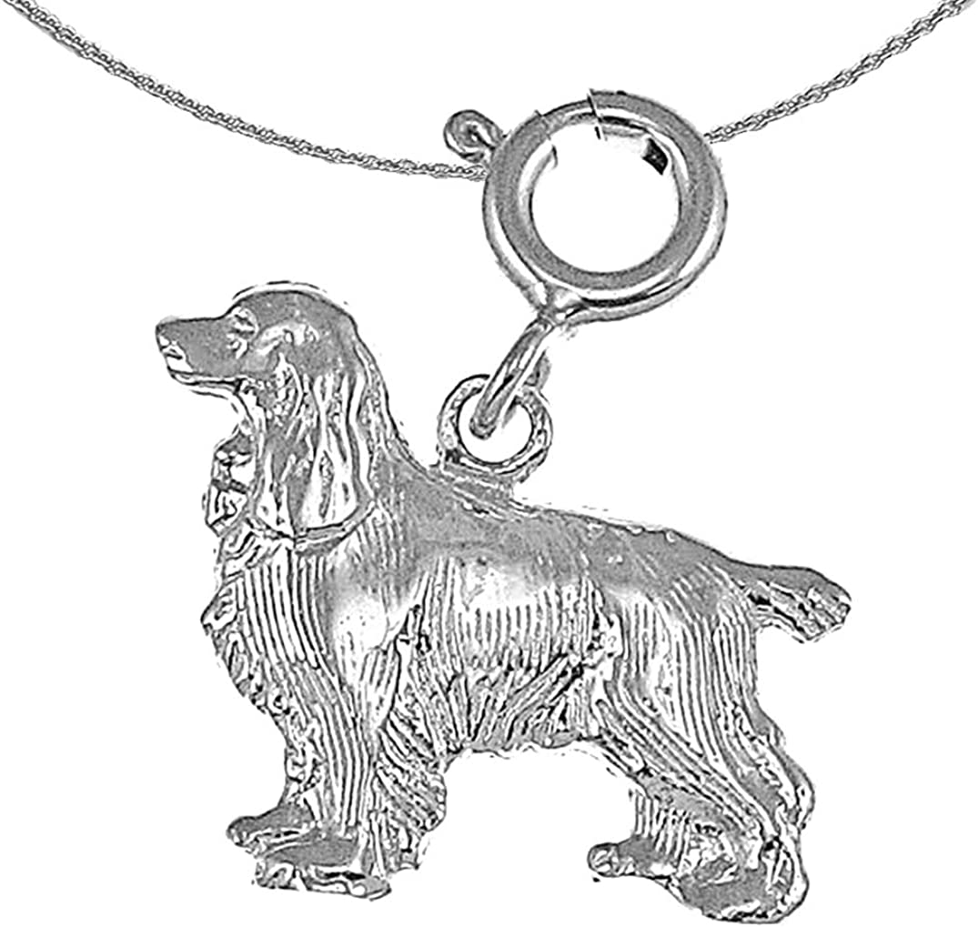 Jewels Max 58% OFF Sale SALE% OFF Obsession Gold Cockerspaniel Dog Gol Necklace 14K White
