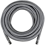 Certified Appliance Accessories Ice Maker Water Line, 25 Feet, PVC Core with Premium Braided Stainless Steel