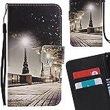 Yiizy LG Nexus 5X Coque Etui, Park Street Nuit Design Mince Flip PU Cuir Cover Couverture Rabat Case...