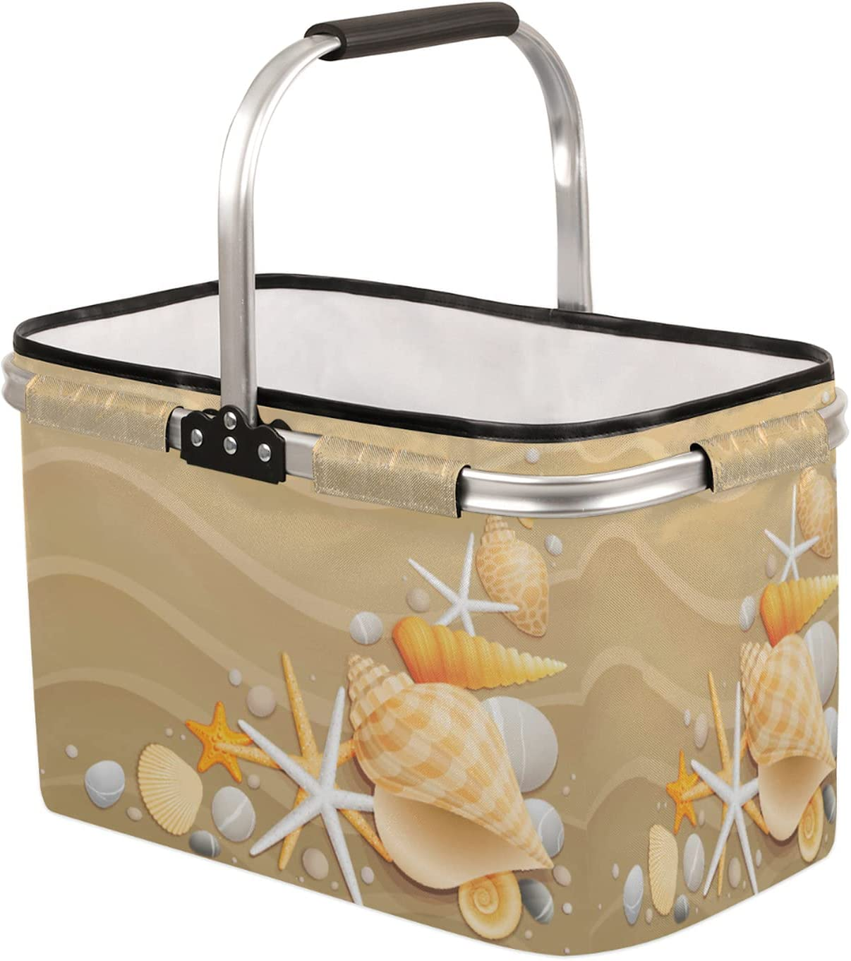 Collapsible Market Basket with Strong Frame Handle 55% OFF Aluminum Some reservation Soft