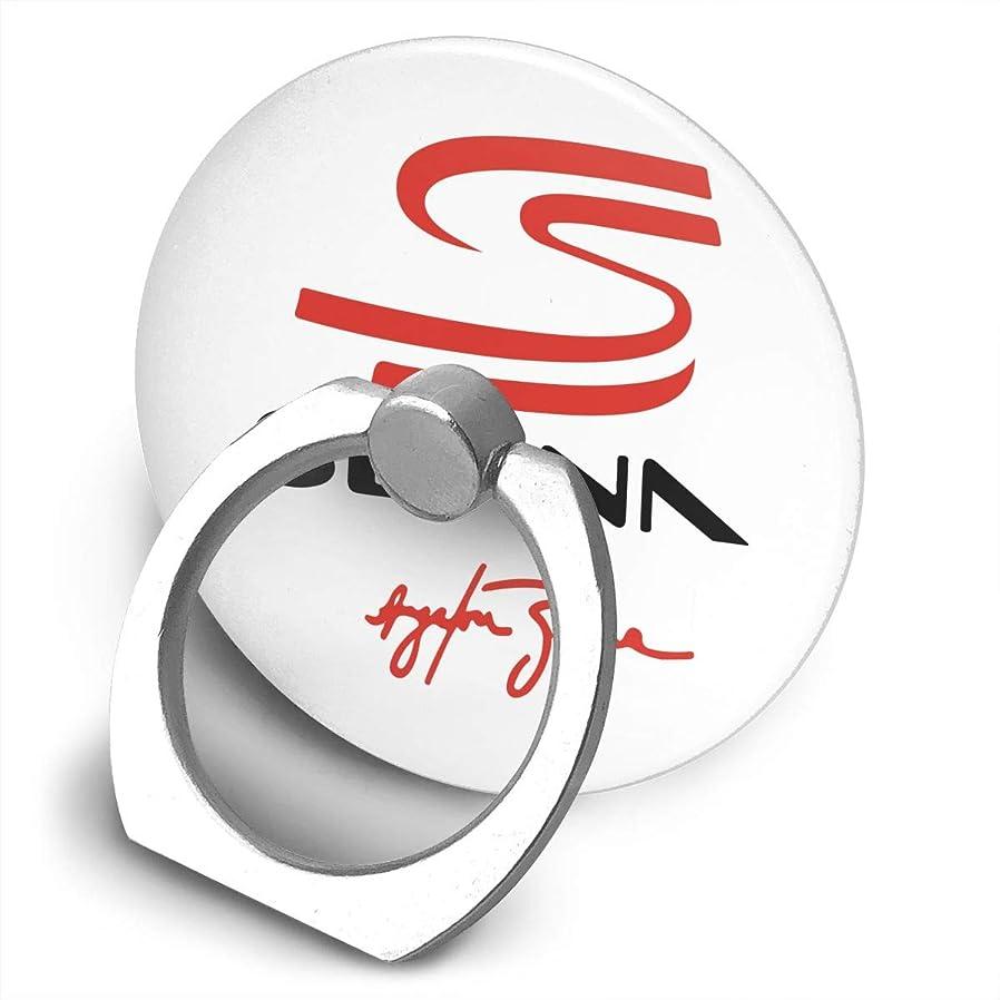 引き潮愛コンプライアンスアイルトン?セナ Ayrton Silva プリント スマホリング 薄型 ネコ型 スマホ りんぐ ホルダー 丸型 強吸着力 落下防止 携帯リング 360° 角度調整 IPhone/Android各種他対応