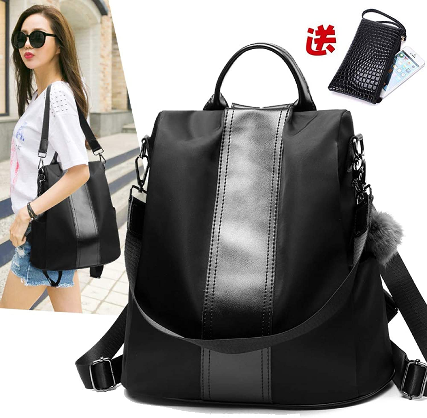 QWKZH Backpack Female Korean Version of The wild Fashion Oxford Cloth Student Bag Ladies small Backpack Female Bag