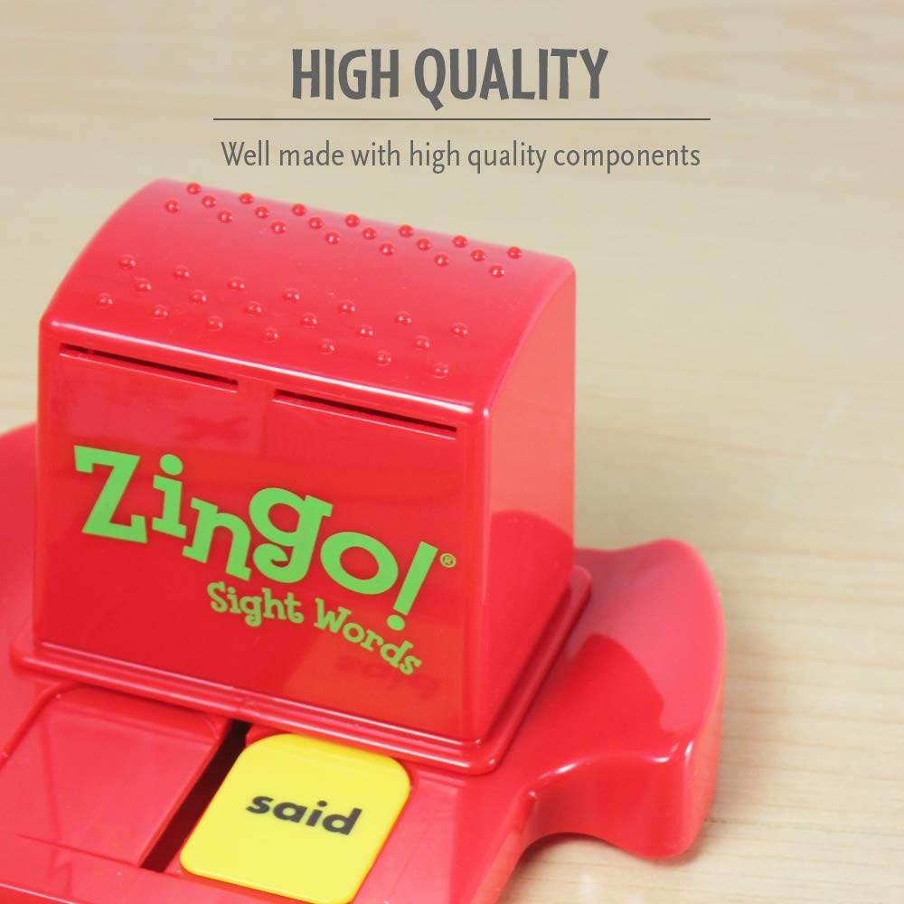 ThinkFun Zingo Sight Words Award Winning Early Reading Game for Pre-K to 2nd Grade - Toy of the Year Finalist, A Fun and Educational Game Developed by Educators for Boys and Girls