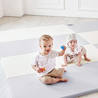 ALZIPMAT Baby Play Mat - Eco Color Folder Duo - Foldable Mats for Baby Crawling and Playing - Waterproof Non-Toxic Playmat for Infants and Toddlers | Non Slip Baby Floor Mat for Indoor and Outdoor