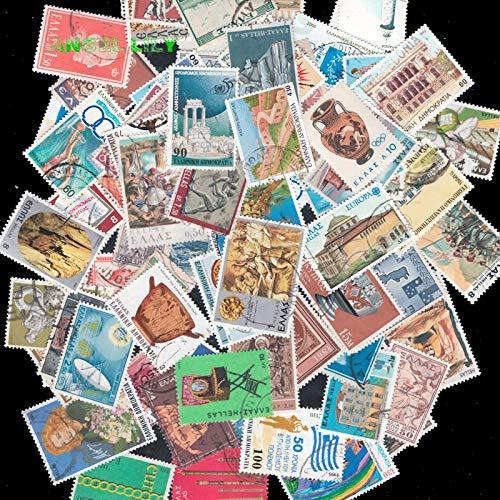 TTBH Alle verschiedenen Griechenland Griechisch Gebrauchte Briefmarken aus Papier für Sammlung50 STK