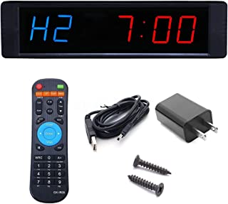 BTBSIGN 1'' LED Interval Timer Workout Timing Countdown Wall Clock With Remote Control