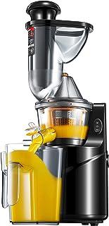 Extracteur de Jus, 75 MM de Large Bouche, Slow Juicer Presse à Froid de fruits et légumes avec , Moteur Silencieux, Nettoy...