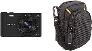 Sony DSC-WX350 - Cámara compacta de 18.2 MP (Pantalla de 3 Zoom óptico 20x estabilizador óptico vídeo Full HD) Negro + AmazonBasics - Funda para cámaras compactas (tamaño Mediano)