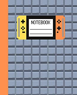 Video Game Notebook for Boys 7.5 x 9.25 110 Pages, Matte Cover, Video Game Composition Notebook Wide Ruled for Kids, Video...