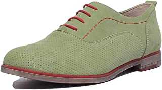 JUSTIN REECE ENGLAND 5000 Lace Up Flat Perforated Derb