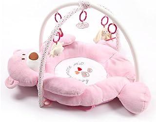 ベビージム プレイマット デラックスジム 知育おもちゃ インテリア ベビー マタニティ 5個おもちゃが付き  (ピンク)