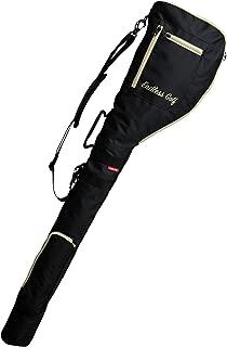 ENDLESS GOLF ゴルフ クラブケース 最大8本収納可能 (軽量/大容量/コンパクト収納) 3ポケット 折りたたみ ショルダー 練習用 ゴルフバッグ ゴルフケース ソフトケース 打ちっ放し ショートコース メンズ レディース