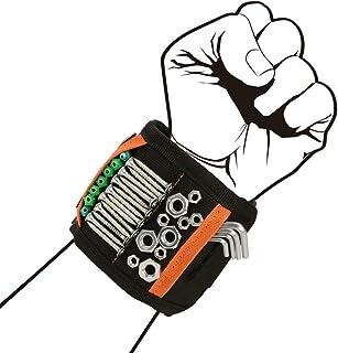 EDATOFLY Magnetische Polsband, Magnetische Armband met 15 Krachtige Magneten Verstelbare Klittenband Magneetarmband voor H...