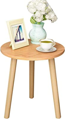 LF- Coffee Table Mini Round Table Side Bed Side Cabinet Corner Bedside Simply Coffee Table 50 cm Chic (Color : B)