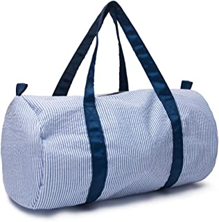 seersucker weekender bag