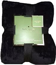 Kate Spade King Fleece Blanket, Black
