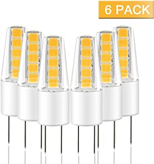 Bombillas LED G4, LAKES 6x G4 AC DC 12V Blanco Cálido 3000K 2W Equivalente 25W Halogenas 360° Ángulo de Haz