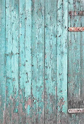 Laeacco 6x8FT Vinyl Photography Background Rustic Flaking Blue Painted Wood Fnece Door Texture Wood Wall Board Plank Vintage Pictures Scene Baby Children Adults Video Photo Studio Props