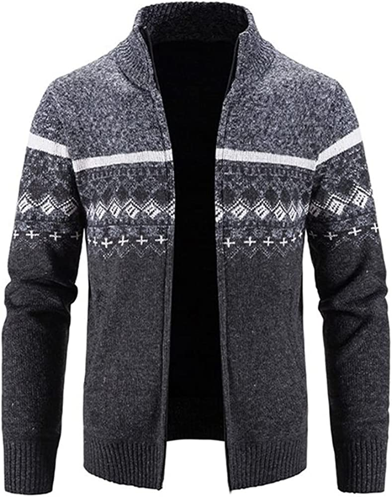 NP Men's Our shop most popular Max 86% OFF Sweater Coat Jacket Autumn Zipper Winter Wool Thick Swe