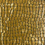 Fabulous Fabrics Folienjersey gold, Pflanze, 142cm breit