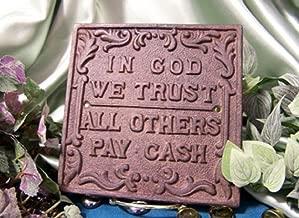 iWG in God We Trust Plaque Set / 2 Cast Iron