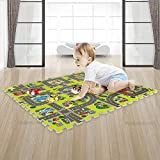 Alapaste Interlocking Floor Puzzle Road Mat Interactive Play Set Foam...
