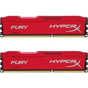 HyperX HX318C10FRK2/8 Fury 8 GB (2 x 4 GB), 1866 MHz, DDR3, CL10, UDIMM, 1.35V, Rosso