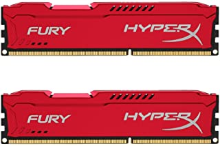HyperX Fury - Memoria RAM, kit de 2 x 8 GB (1866 MHz DDR3 Non-ECC CL10 DIMM), 1.5V , Color Rojo