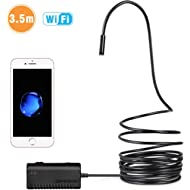 DEPSTECH Wireless Endoscope, IP67 Waterproof WiFi Borescope Inspection 2.0 Megapixels HD Snake...