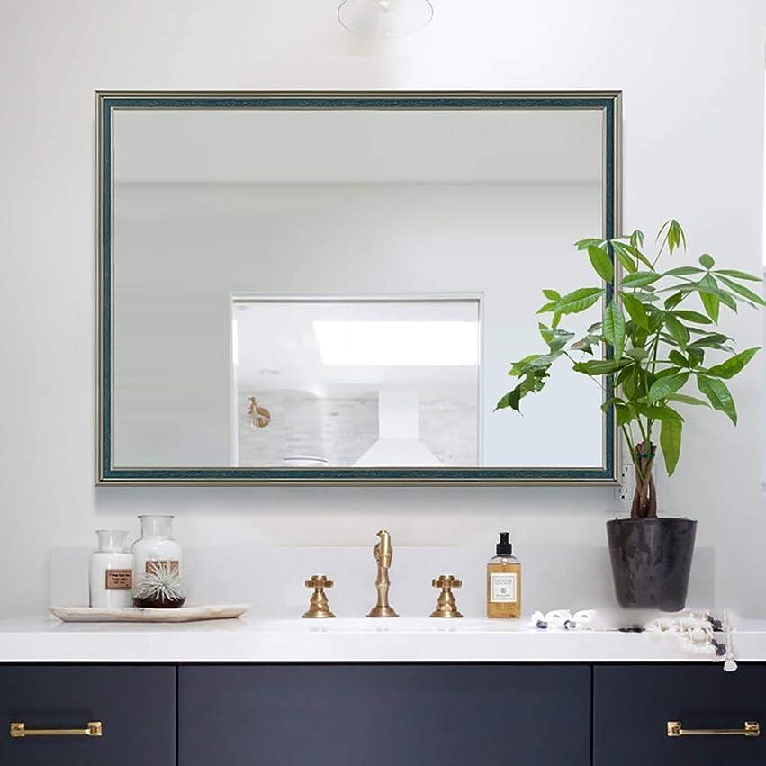 運命的な魔術長椅子モダンなバスルームミラー、ヨーロッパのバスルームミラー、壁鏡化粧鏡、四角形ミラー、化粧鏡-シェービングミラー-化粧鏡、浴室の装飾(600 * 800MM)