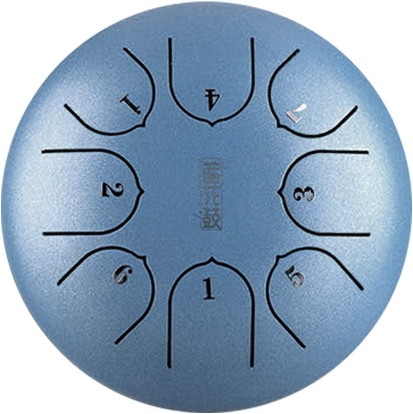 Steel Tongue Drum 6 Inch 8 Notes C Key Portable Lotus Hand Pan Drum Kit with Beaters /& Bag for Children Music Education Mind Healing Yoga Meditation