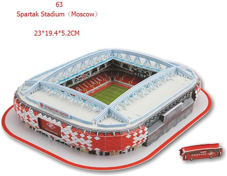 YCRD Kinder Puzzle Spiel DIY World Cup Fußballplatz 3D Montage Papiermodell Montage Spielzeug,K B07DTZC56S Genial | Hat einen langen Ruf